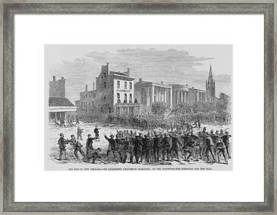 1866 Race Riot In New Orleans Was One Framed Print by Everett