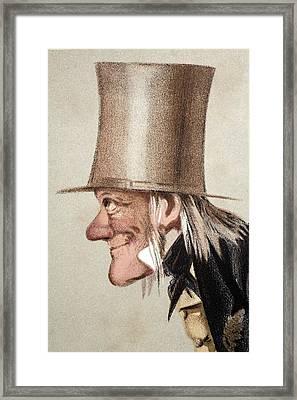 1873 Richard Owen Vanity Fair Cu Portrait Framed Print by Paul D Stewart