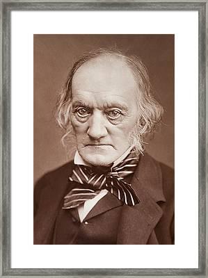 1878 Sir Richard Owen Photograph Portrait Framed Print by Paul D Stewart