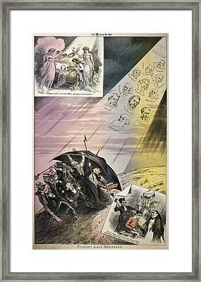 1882 Darwin Et Al Reason Against Unreason Framed Print by Paul D Stewart