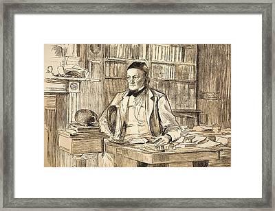 1883 Richard Owen's Study Ex Bmnh Framed Print by Paul D Stewart