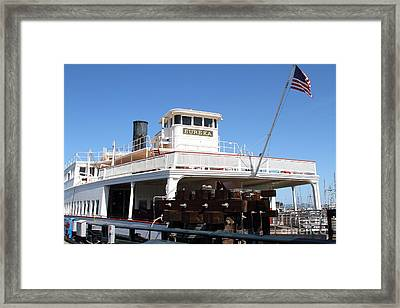 1890 Steam Ferryboat Eureka At The Hyde Street Pier In San Francisco California . 7d14120 Framed Print by Wingsdomain Art and Photography
