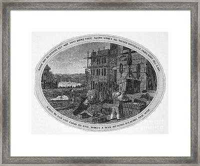 Poor Richard Illustrated Framed Print by Granger