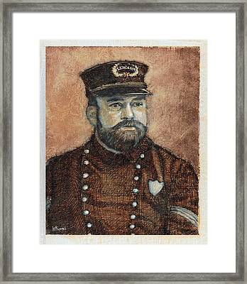 1900 Policeman Framed Print by Herb Russel