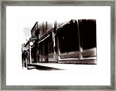 1900 Sidewalk  Framed Print by Marcin and Dawid Witukiewicz