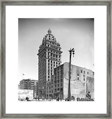 1906 San Francisco Earthquake Damage To Call Building Framed Print by Padre Art