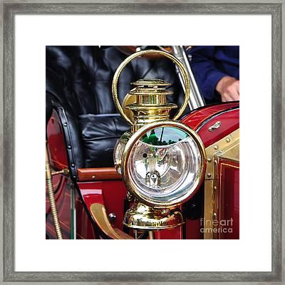 1907 Stanley Steamer - Lantern Framed Print by Kaye Menner