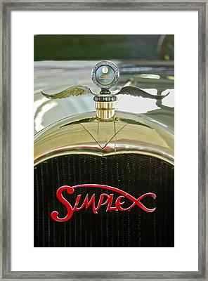 1916 Crane-simplex Model 5 Seven-passenger Touring Hood Ornament Framed Print by Jill Reger