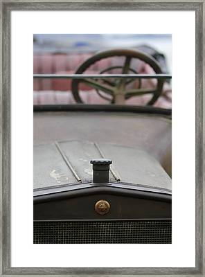 1916 Winton Model 33 Touring Hood Ornament Framed Print by Jill Reger