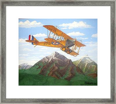 1917 Curtis Jenny Jn4 Used By The Army Air Corps Framed Print by Mickael Bruce