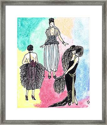 1920s Gals 4 Framed Print by Mel Thompson