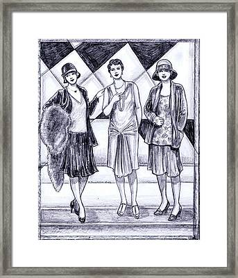 1920s Styles Framed Print by Mel Thompson