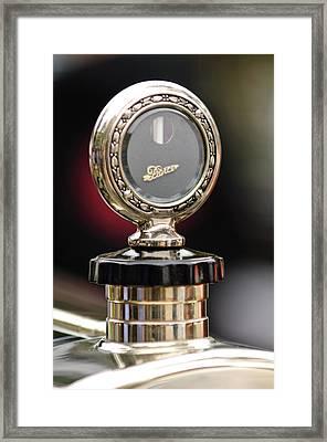 1927 Pierce-arrow Limousine Motometer Hood Ornament Framed Print by Jill Reger