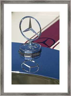1929 Mercedes-benz Gazelle Touring Hood Ornament Framed Print by Jill Reger