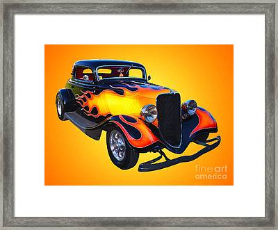 1934 Ford 3 Window Coupe Hotrod Framed Print by Jim Carrell