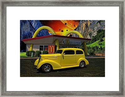 1935 Chevrolet Sedan Hot Rod Framed Print by Tim McCullough