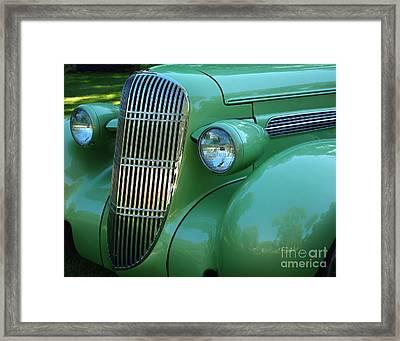 1935 Oldsmobile Grill Framed Print by Peter Piatt