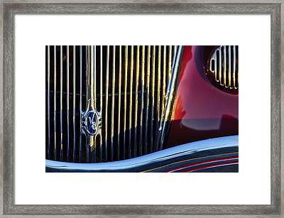 1936 Ford Phaeton V8 Grille Emblem Framed Print by Jill Reger