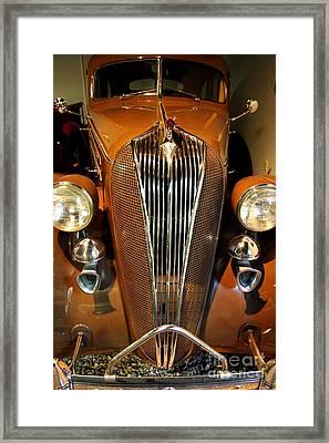1936 Hudson 64 De Luxe 8 Sedan Framed Print by Wingsdomain Art and Photography