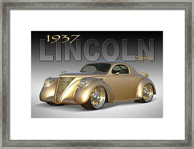 1937 Lincoln Zephyr Framed Print by Mike McGlothlen