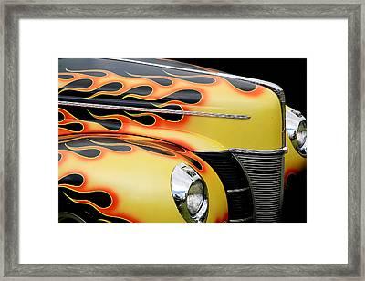 1940 Flames Framed Print by Steve McKinzie