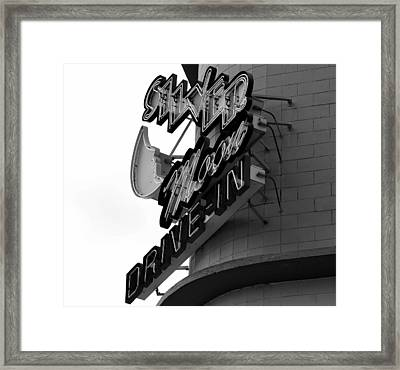 1940s Drive In Framed Print by David Lee Thompson