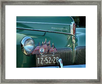 1941 Studebaker Framed Print by Dennis Pintoski