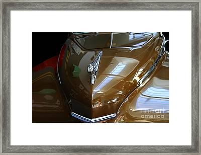 1947 Desoto Suburban . Front View Framed Print by Wingsdomain Art and Photography