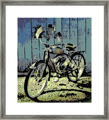 1947 Whizzer Framed Print by George Pedro