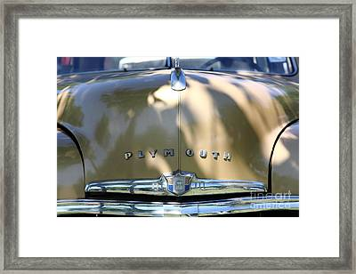 1949 Plymouth Delux Sedan . 5d16206 Framed Print by Wingsdomain Art and Photography