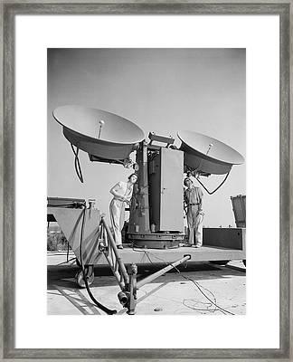 1950 Doppler Radar Antenna Has Metallic Framed Print by Everett