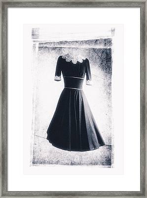 1950s Dress Framed Print by David Ridley