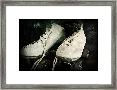1950's Roller Skates Framed Print by Michelle Calkins