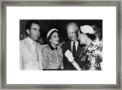1952 Presidential Campaign. From Left Framed Print by Everett
