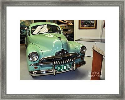 1953 Fj Holden Ute Framed Print by Kaye Menner