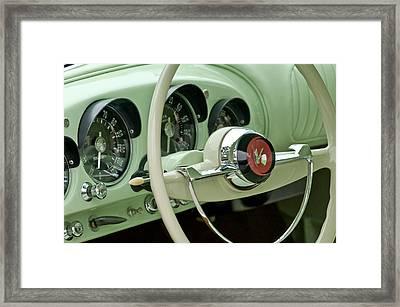 1954 Kaiser Darrin Steering Wheel Framed Print by Jill Reger