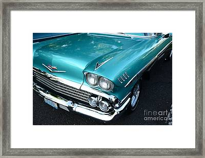 1955 Chevy Belair Front End Framed Print by Paul Ward
