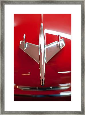 1955 Chevy Belair Hood Ornament Framed Print by Sebastian Musial