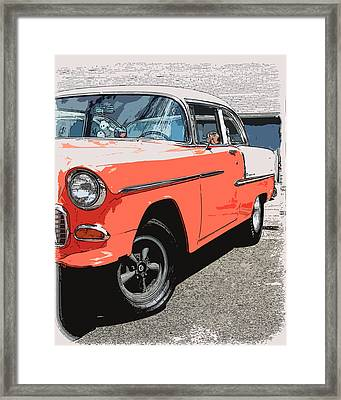 1955 Chevy Framed Print by Steve McKinzie