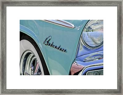 1955 Plymouth Belvedere Emblem Framed Print by Jill Reger