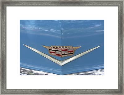 1956 Cadillac Emblem Framed Print by Linda Phelps