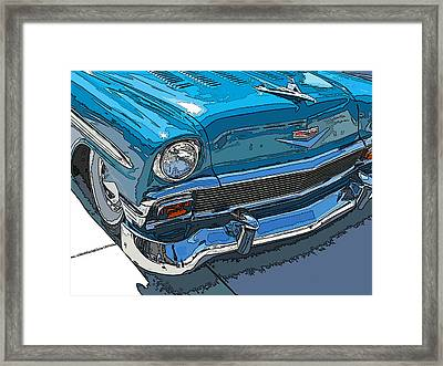 1956 Chevy Bel Air Nose Study Framed Print by Samuel Sheats