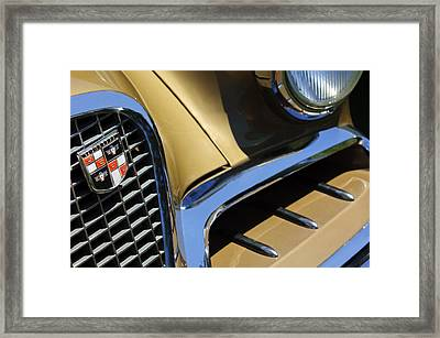 1957 Studebaker Golden Hawk Hardtop Grille Emblem Framed Print by Jill Reger