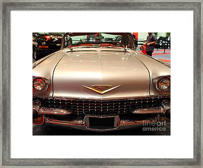 1958 Cadillac Eldorado Biarritz Convertible . Silver . 7d9421 Framed Print by Wingsdomain Art and Photography