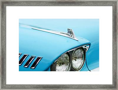 1958 Chevrolet Impala Fender Spear Framed Print by Jill Reger
