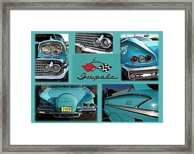 1958 Chevy Impala Framed Print by Paul Ward