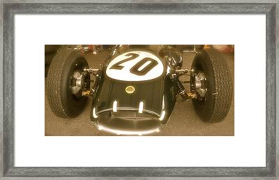 1958 Lotus Climax 16 Front Framed Print by John Colley