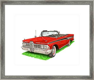 1959 Edsel Corsair Convertible Framed Print by Jack Pumphrey