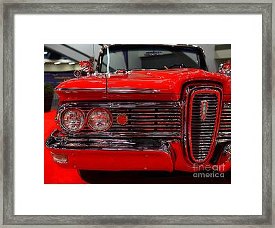 1959 Edsel Corsair Convertible . Red . 7d9233 Framed Print by Wingsdomain Art and Photography