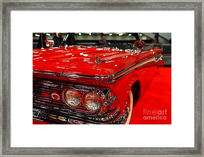 1959 Edsel Corsair Convertible . Red . 7d9241 Framed Print by Wingsdomain Art and Photography